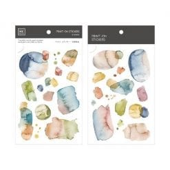 MU Print-On Stickers - Watercolour Blue-Green