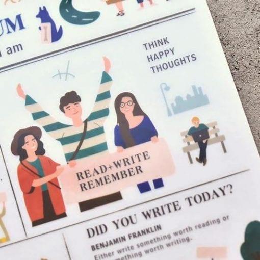 MU Print-On Stickers - Mindfulness
