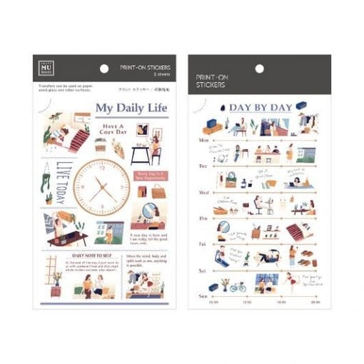 MU Print-On Stickers - Daily Life