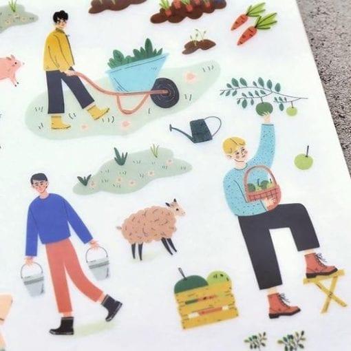 MU Print-On Stickers - Farmers Market