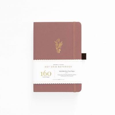 B5 Archer & Olive Floral Sunset Dot Grid Notebook