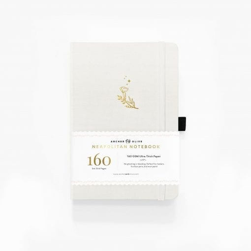 Archer & Olive Moon FLowers Neapolitan Notebook