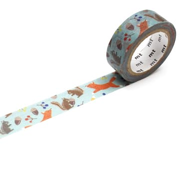 MT ex Embroidery Fox and Squirrel Washi Tape
