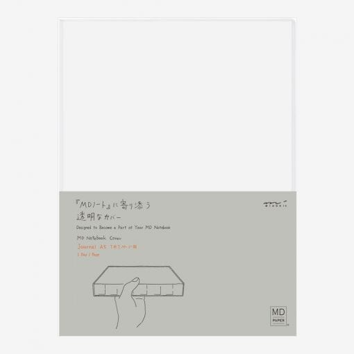 MD Paper Clear Cover for A5 1 Day 1 Page Diary