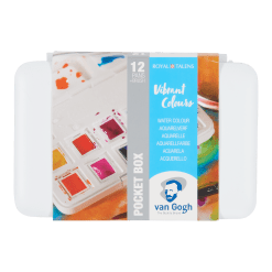 Royal talens Van Gogh Vibrant Colours Watercolour Set of 12 half pans