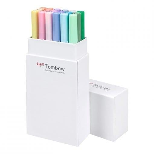 Tombow ABT Dual Brush Pens Pastel Colours set of 18