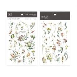 MU Print On Stickers Pressed Plants