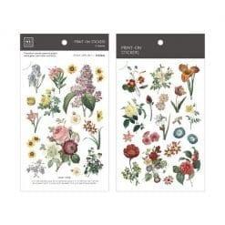 MU Print-On Stickers - Vintage Flowers