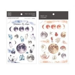MU Print-On Stickers - Moon and Crystals