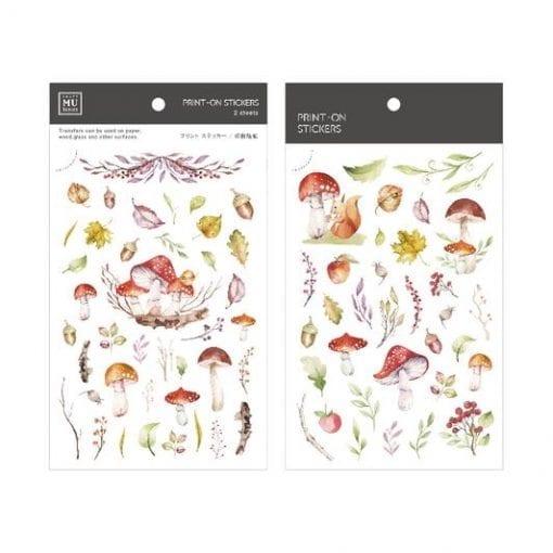 MU Print-On Stickers - Autumn