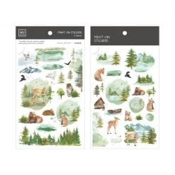 Mu Print On Stickers Green Forest