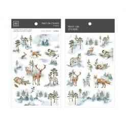 Mu Print On Stickers Forest Mist