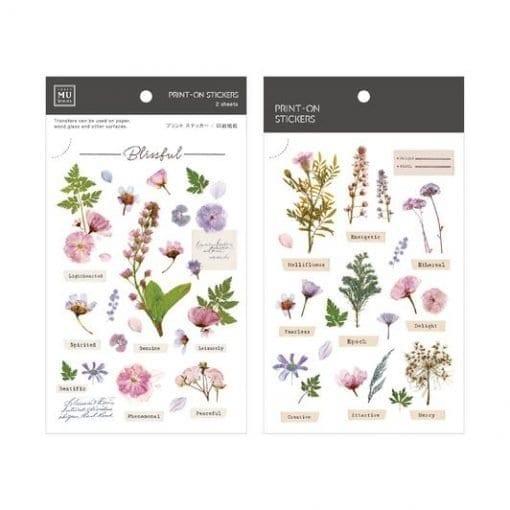 MU Print-On Stickers - Herbarium