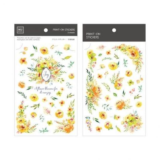 MU Print-On Stickers - Yellow Garden