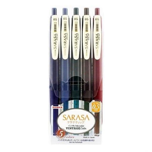 Zebra Sarasa Vintage Colours Set 1 0.5mm