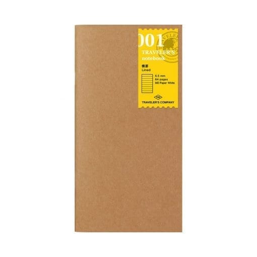 Traveler's Company Standard Notebook Insert 001 Lined