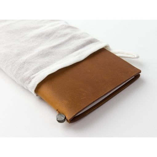 Traveler's Notebook Leather Cover Camel by Traveler's Company Japan dust bag