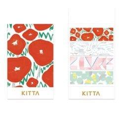 Kitta Washi Paper Stickers Poppies KIT060