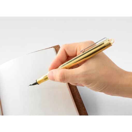 TRAVELER'S Company Brass Fountain Pen