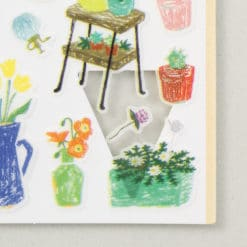 Midori Sticker Marché Flower Vase