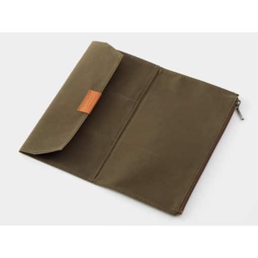 TRAVELER'S Company Limited Edition - Traveler's Notebook Cotton Zipper Case Regular Olive