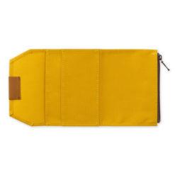 TRAVELER'S Company Limited Edition - Traveler's Notebook Cotton Zipper Case Passport Mustard