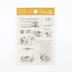 BGM Cats & Stationery Clear Stamp Set
