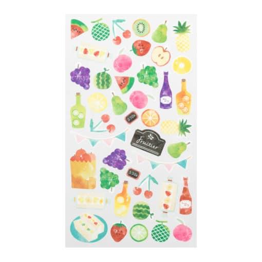Midori Sticker Marché Fruit