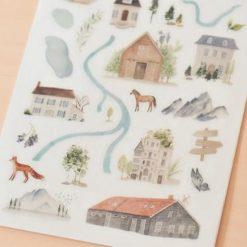 MU Print-On Stickers - Travel Map