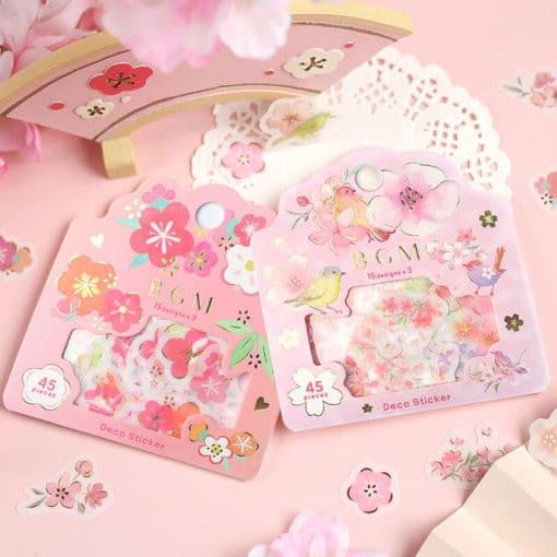 BGM Sakura and Birds Washi Stickers