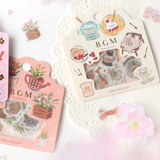 BGM Flower Shop Washi Stickers