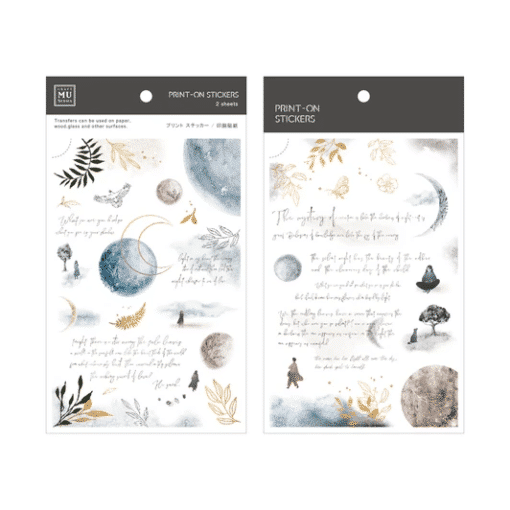 MU Print-On Stickers - Moon