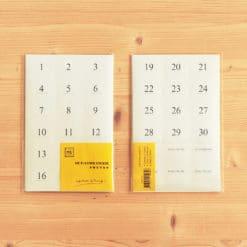 MU Date Sticker 01 - Large Numbers
