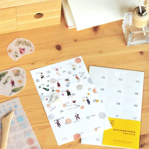 MU Date Sticker 02 - Small Numbers