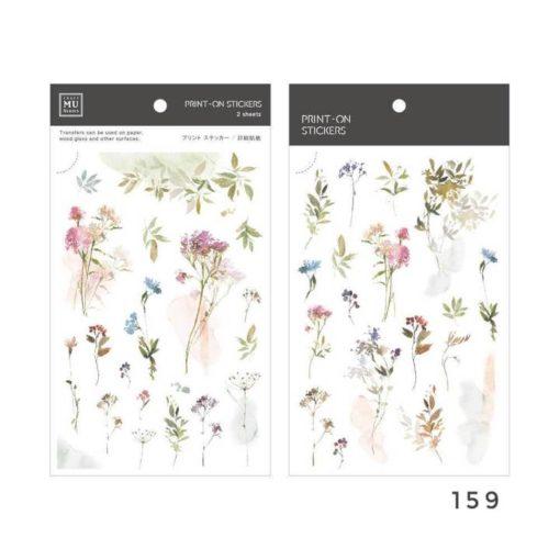 MU Print-On Stickers - Flower Shades