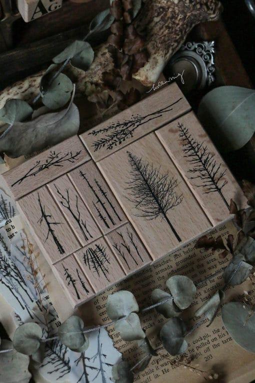 LCN Design Rubber Stamp Set - Forest Vol. 3