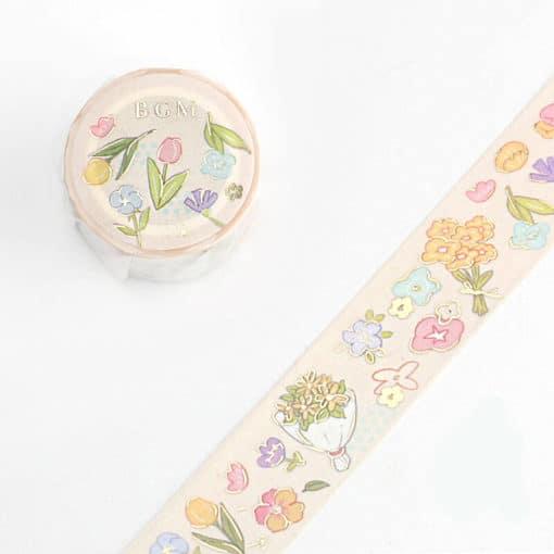BGM Spring Flowers Washi Tape