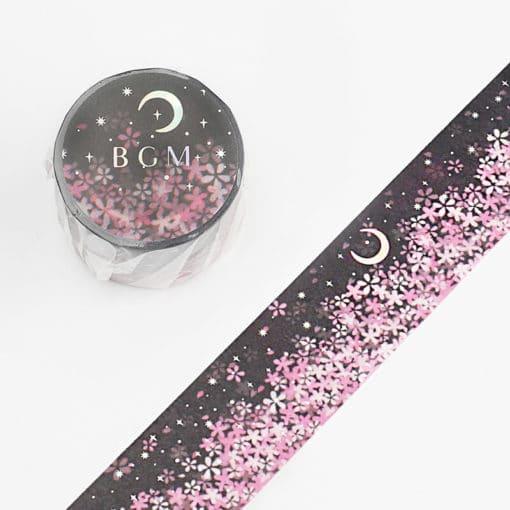 BGM Moonlight Sakura Washi Tape