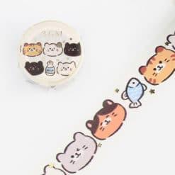 BGM Cute Cats Washi Tape
