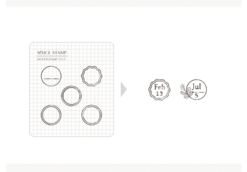 MU My Icon Clear Stamp Set No. 05 Delicate Circles