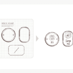 MU My Icon Clear Stamp Set No. 07 Label Frames