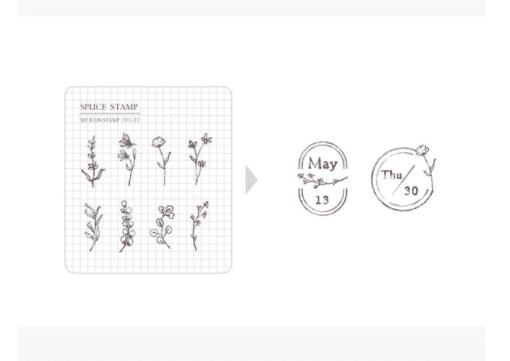 MU My Icon Clear Stamp Set No. 11 Botanical Memories