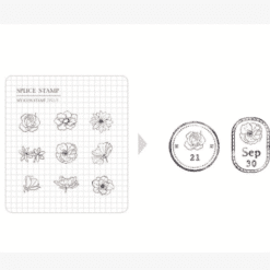 MU My Icon Clear Stamp Set No. 09 Daily Flowers
