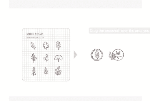 MU My Icon Clear Stamp Set No. 10 Daily Leaves