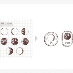 MU My Icon Clear Stamp Set No. 12 Moon Phases