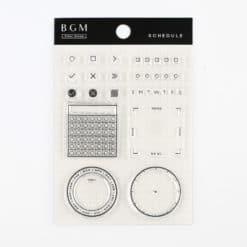 BGM Schedule Clear Stamp Set