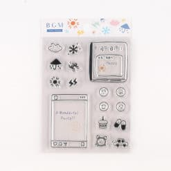 BGM Weather and Mood Clear Stamp Set