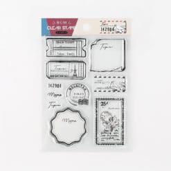 BGM Vintage Tickets Clear Stamp Set