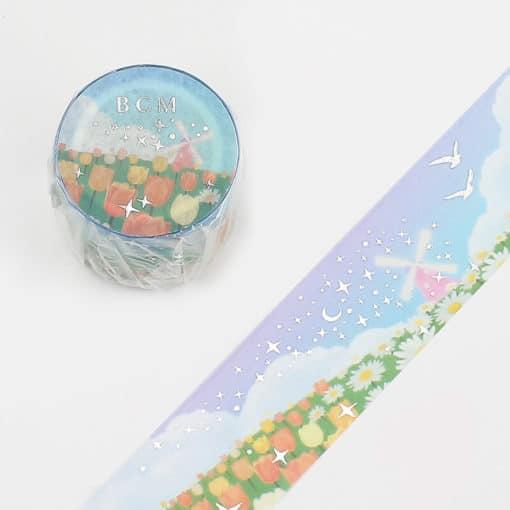 BGM Field of Flowers Washi Tape