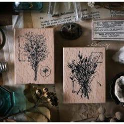 LCN Design Rubber Stamps - Dried Flower, set E